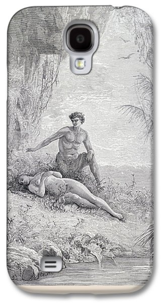 Adam And Eve Galaxy S4 Case by Gustave Dore
