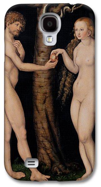 Adam And Eve In The Garden Of Eden Galaxy S4 Case by The Elder Lucas Cranach