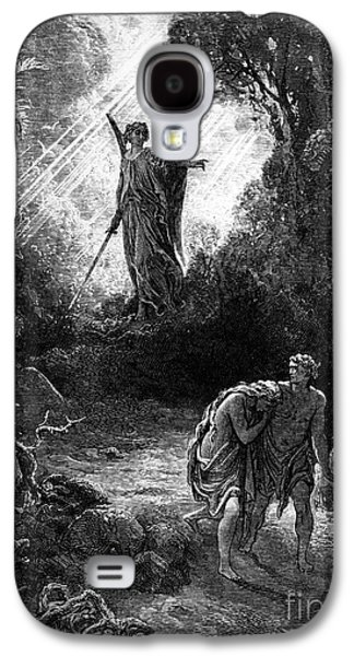 Adam And Eve Leaving Paradise Galaxy S4 Case by Gustave Dore