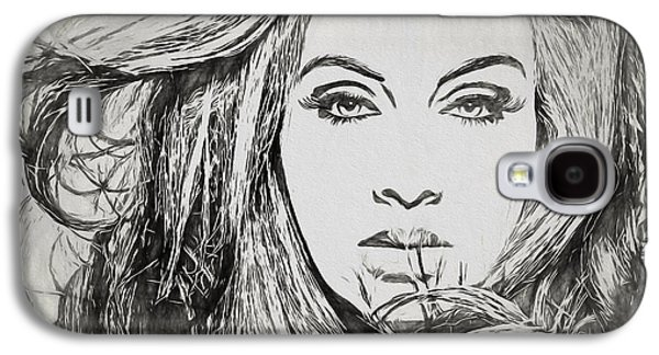 Adele Charcoal Sketch Galaxy S4 Case by Dan Sproul