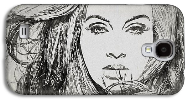 Adele Charcoal Sketch Galaxy S4 Case