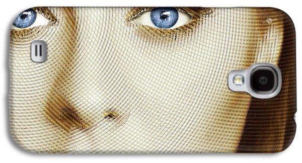 Adele Painting Circle Pattern 1 Galaxy S4 Case by Tony Rubino