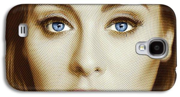 Adele Painting Circle Pattern 2 Galaxy S4 Case by Tony Rubino