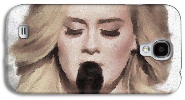 Adele Portrait Hello Galaxy S4 Case by Yury Malkov