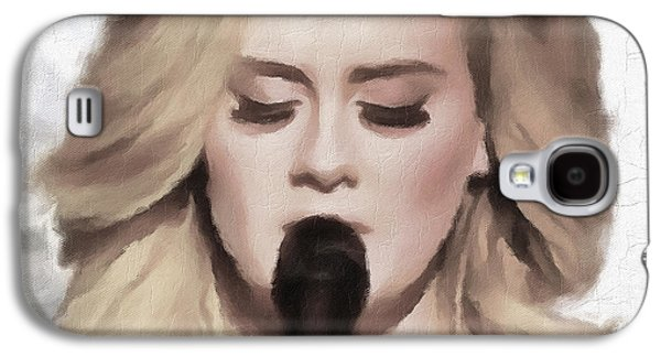 Adele Portrait Hello Galaxy S4 Case