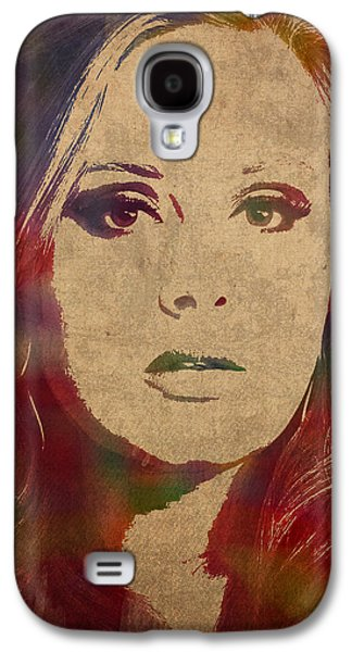 Adele Watercolor Portrait Galaxy S4 Case