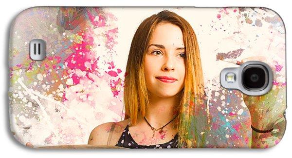 Adult Art Class Painter Galaxy S4 Case by Jorgo Photography - Wall Art Gallery