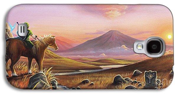 Mountain Sunset Galaxy S4 Case - Adventure Awaits by Joe Mandrick