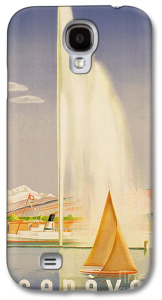 Yachting Galaxy S4 Cases - Advertisement for travel to Geneva Galaxy S4 Case by Fehr