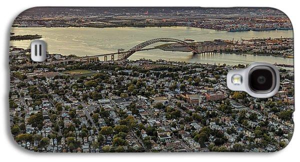 Aerial View Bayonne Bridge Nj Galaxy S4 Case by Susan Candelario