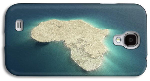 Africa Conceptual Island Design Galaxy S4 Case by Johan Swanepoel