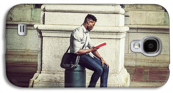 African American College Student Studying In New York Galaxy S4 Case