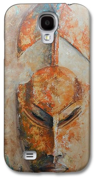 African Death Mask Galaxy S4 Case by John Henne