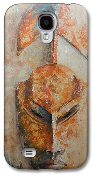 African Death Mask Galaxy S4 Case by John Henne