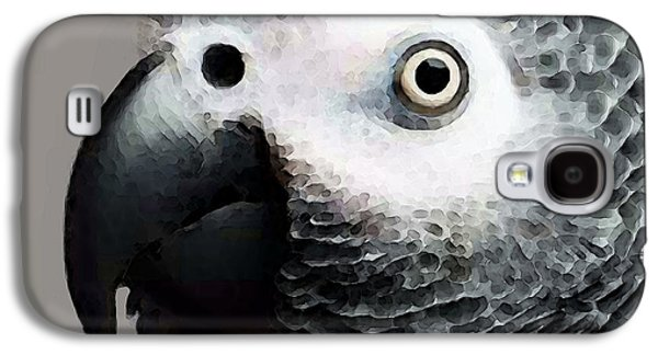 African Gray Parrot Art - Softy Galaxy S4 Case by Sharon Cummings