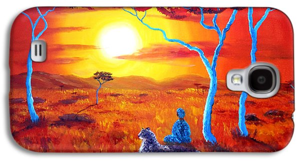 African Sunset Meditation Galaxy S4 Case by Laura Iverson