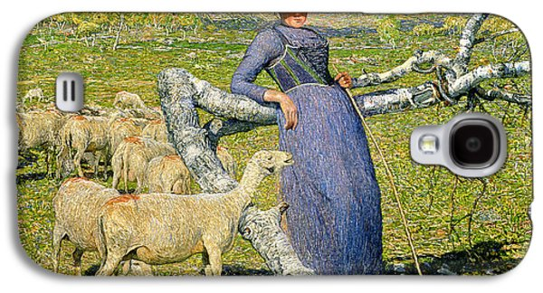 Afternoon In The Alps Galaxy S4 Case by Giovanni Segantini