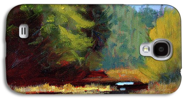 Galaxy S4 Case featuring the painting Afternoon On The River by Nancy Merkle