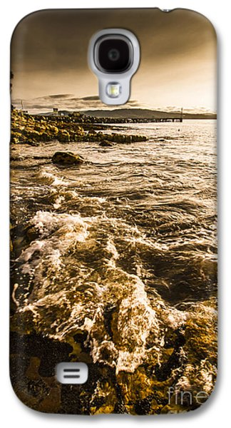 Afternoon Rocky Coast  Galaxy S4 Case by Jorgo Photography - Wall Art Gallery
