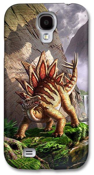 Dinosaur Galaxy S4 Case - Against The Wall by Jerry LoFaro
