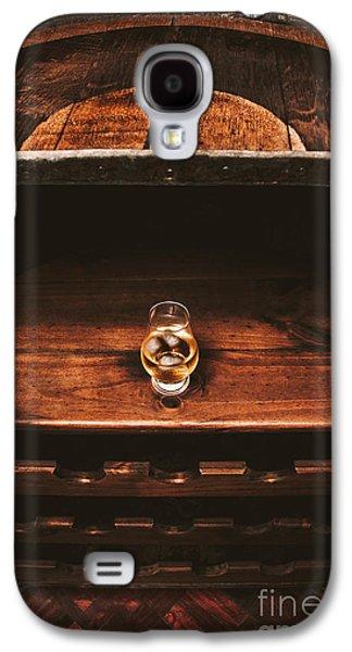 Aged Glass Of Rum On Cellar Barrel Galaxy S4 Case