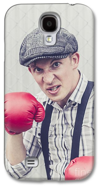 Aggressive Boxer Wearing 1920s Flat Cap Galaxy S4 Case