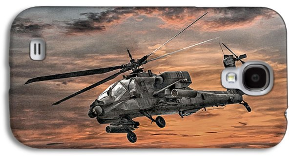 Helicopter Galaxy S4 Case - Ah-64 Apache Attack Helicopter by Randy Steele