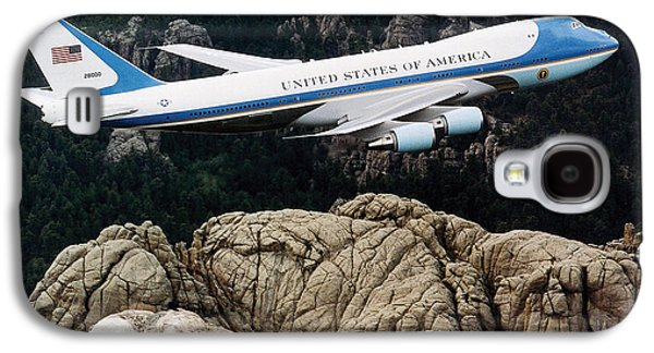 Air Force One Flying Over Mount Rushmore Galaxy S4 Case