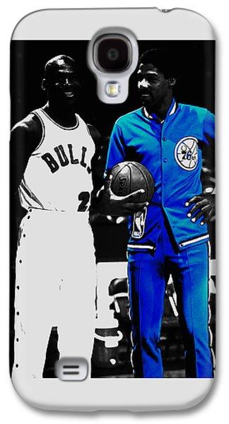 Air Jordan And Julius Erving Galaxy S4 Case by Brian Reaves