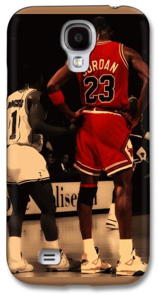 Air Jordan And Muggsy Bogues Galaxy S4 Case by Brian Reaves