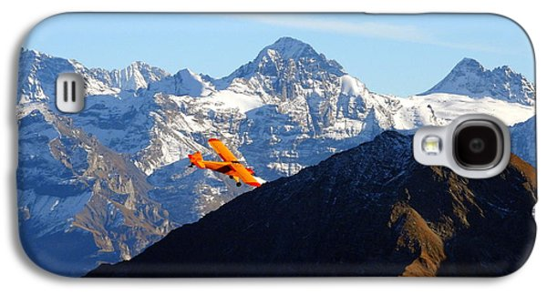 Airplane In Front Of The Alps Galaxy S4 Case