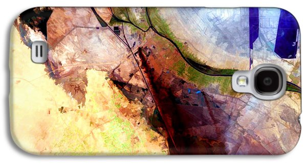 Al Basrah Iraq Watercolor From Landsat Galaxy S4 Case by Elaine Plesser