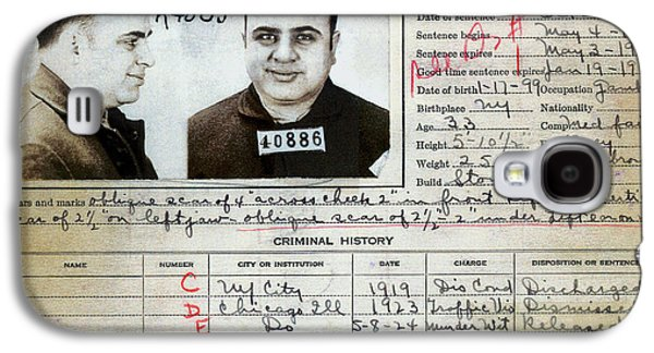Al Capone Mugshot And Criminal History Galaxy S4 Case by Jon Neidert