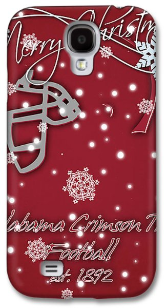 Alabama Crimson Tide Christmas Card 2 Galaxy S4 Case by Joe Hamilton
