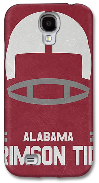 Alabama Crimson Tide Vintage Football Art Galaxy S4 Case by Joe Hamilton