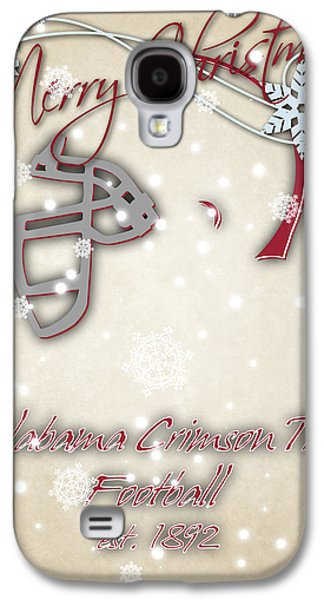 Alabama Cromson Tide Christmas Card Galaxy S4 Case by Joe Hamilton