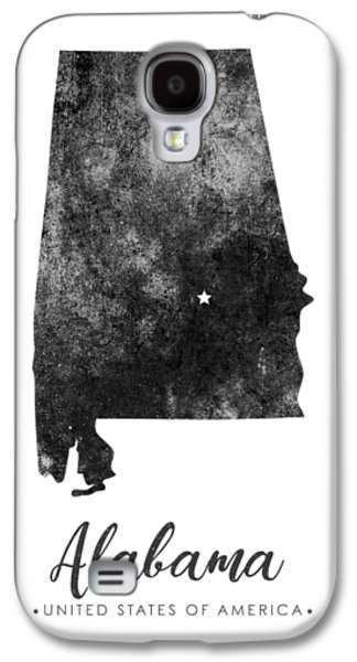Alabama State Map Art - Grunge Silhouette Galaxy S4 Case