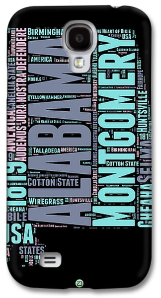 Alabama Word Cloud 1 Galaxy S4 Case by Naxart Studio
