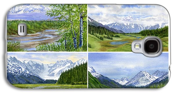 Alaska Landscape Poster Collage 3 With Heading Galaxy S4 Case by Sharon Freeman