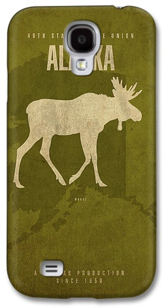 Alaska State Facts Minimalist Movie Poster Art Galaxy S4 Case by Design Turnpike