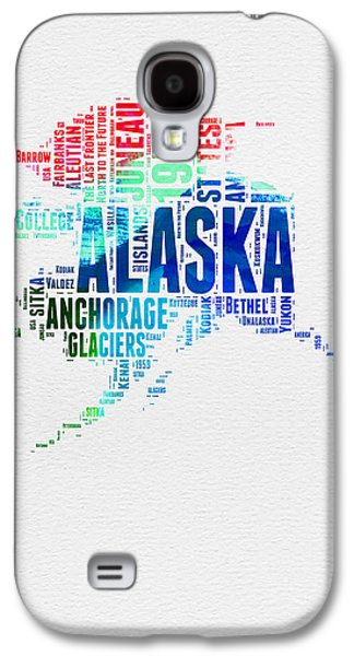 Alaska Watercolor Word Cloud  Galaxy S4 Case by Naxart Studio