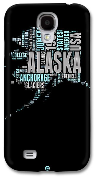Alaska Word Cloud 1 Galaxy S4 Case by Naxart Studio
