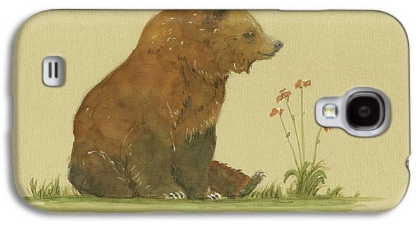 Alaskan Grizzly Bear Galaxy S4 Case by Juan Bosco