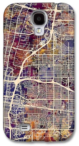 Albuquerque New Mexico City Street Map Galaxy S4 Case