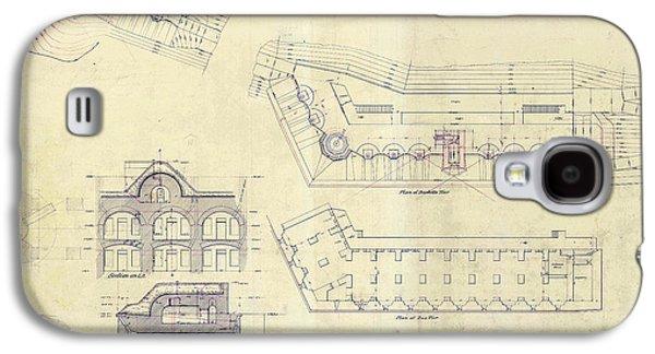 Alcatraz  Bomb Proof Barracks Drawing 1865   Galaxy S4 Case by Jon Neidert