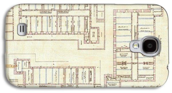 Alcatraz Citadel Drawing 1857 Galaxy S4 Case by Jon Neidert