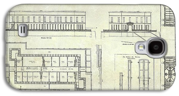 Alcatraz Defensive Barracks Drawing 1859 Galaxy S4 Case by Jon Neidert