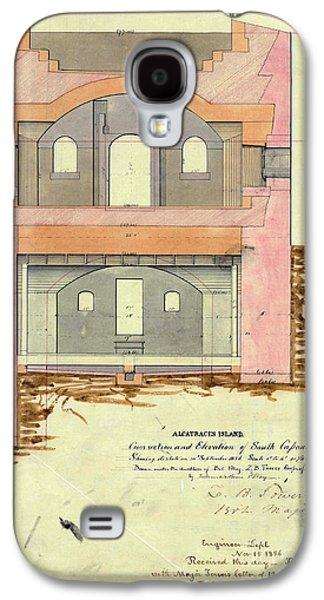 Alcatraz South Capniere Drawing 1856 Galaxy S4 Case by Jon Neidert