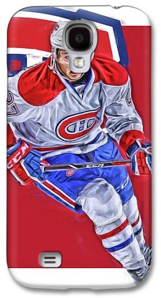 Alex Galchenyuk Montreal Canadiens Oil Art Galaxy S4 Case by Joe Hamilton