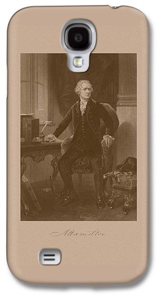 Alexander Hamilton Sitting At His Desk Galaxy S4 Case by War Is Hell Store